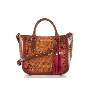 NWT Brahmin Toasted Almond Hayes Small Lena Tote